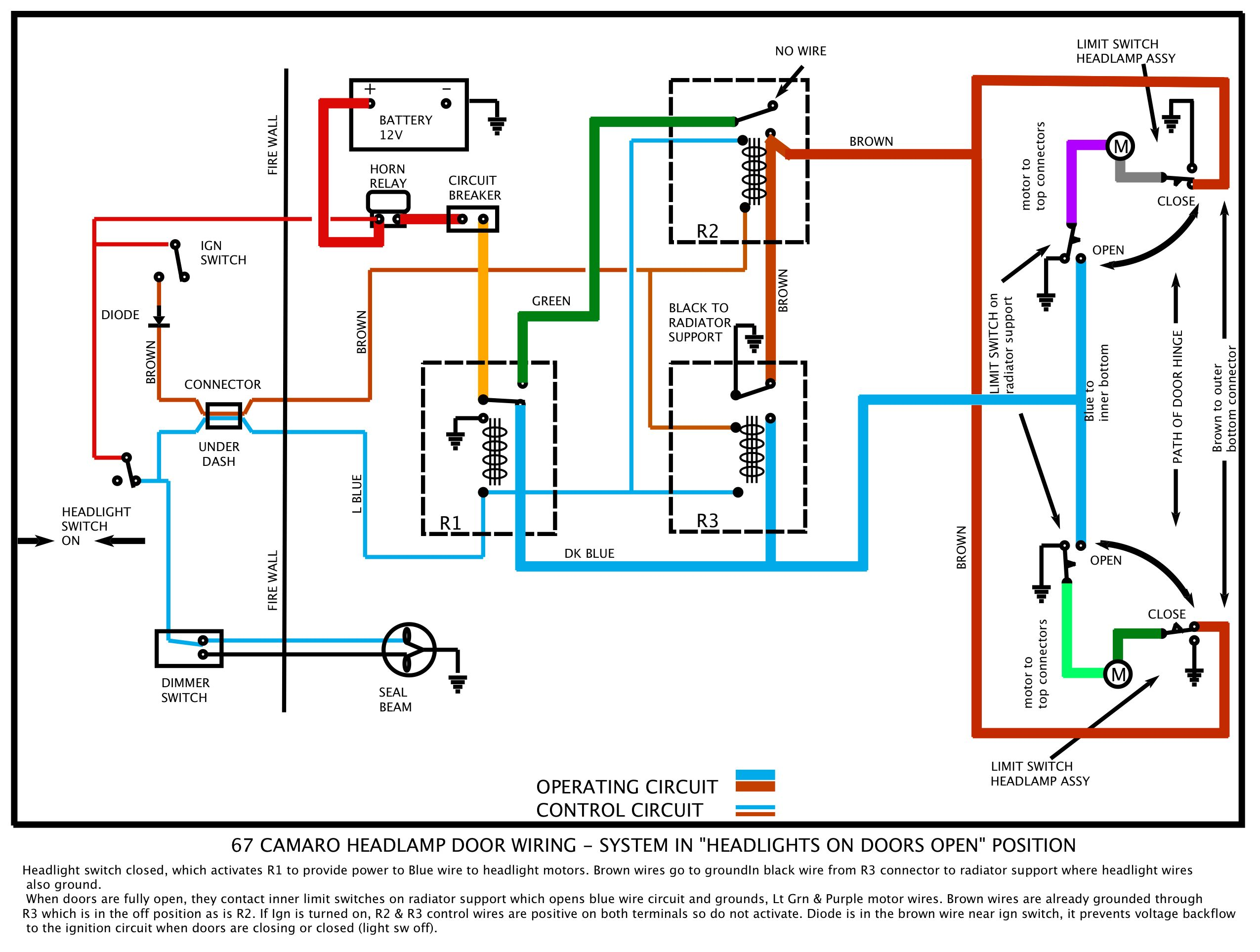 headlight dimmer switch wiring diagram headlight 67 rs headlight doors on headlight dimmer switch wiring diagram