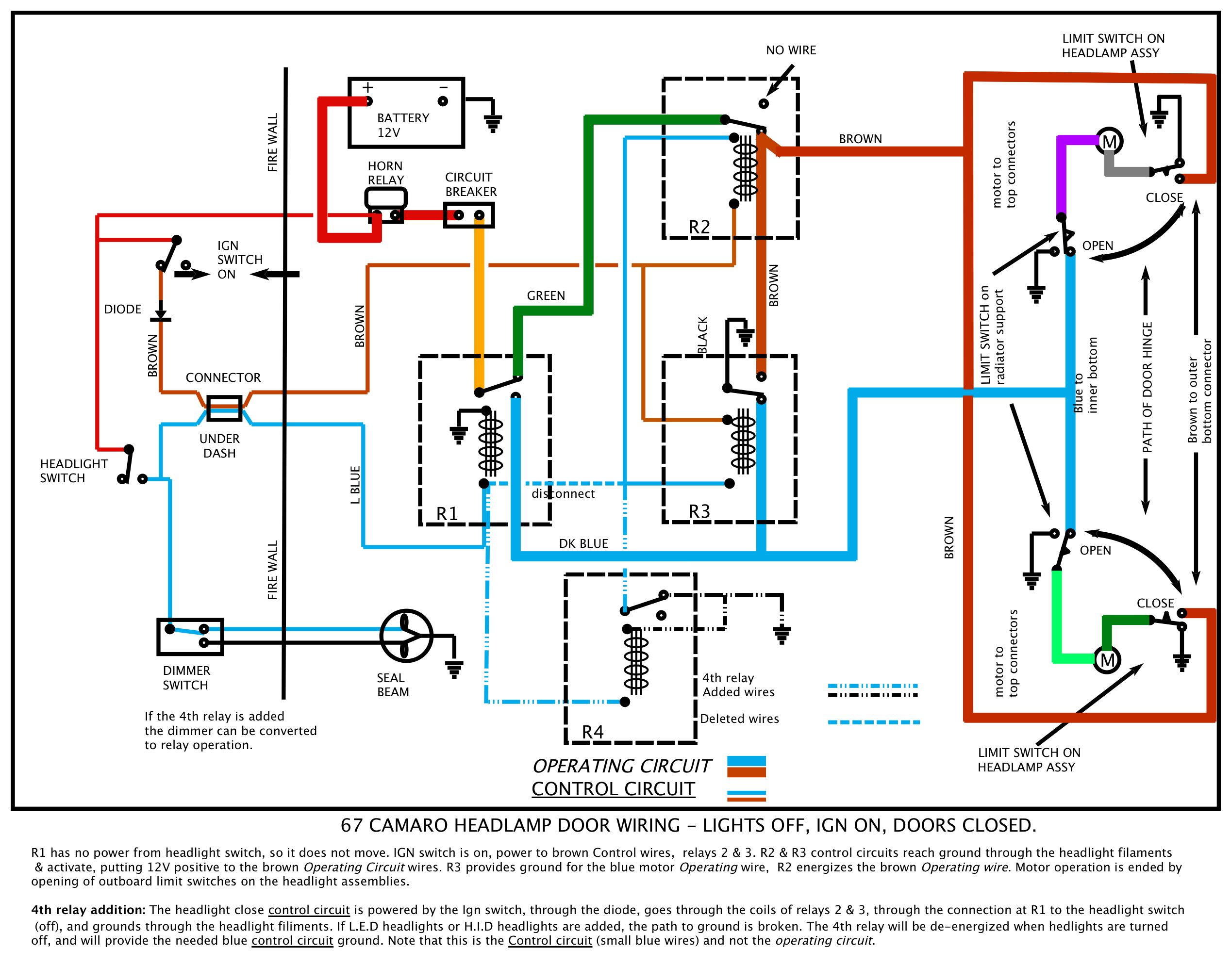 67_RS_Ign_on_4th_relay 67 rs headlight doors 1967 camaro wiring diagram pdf at nearapp.co