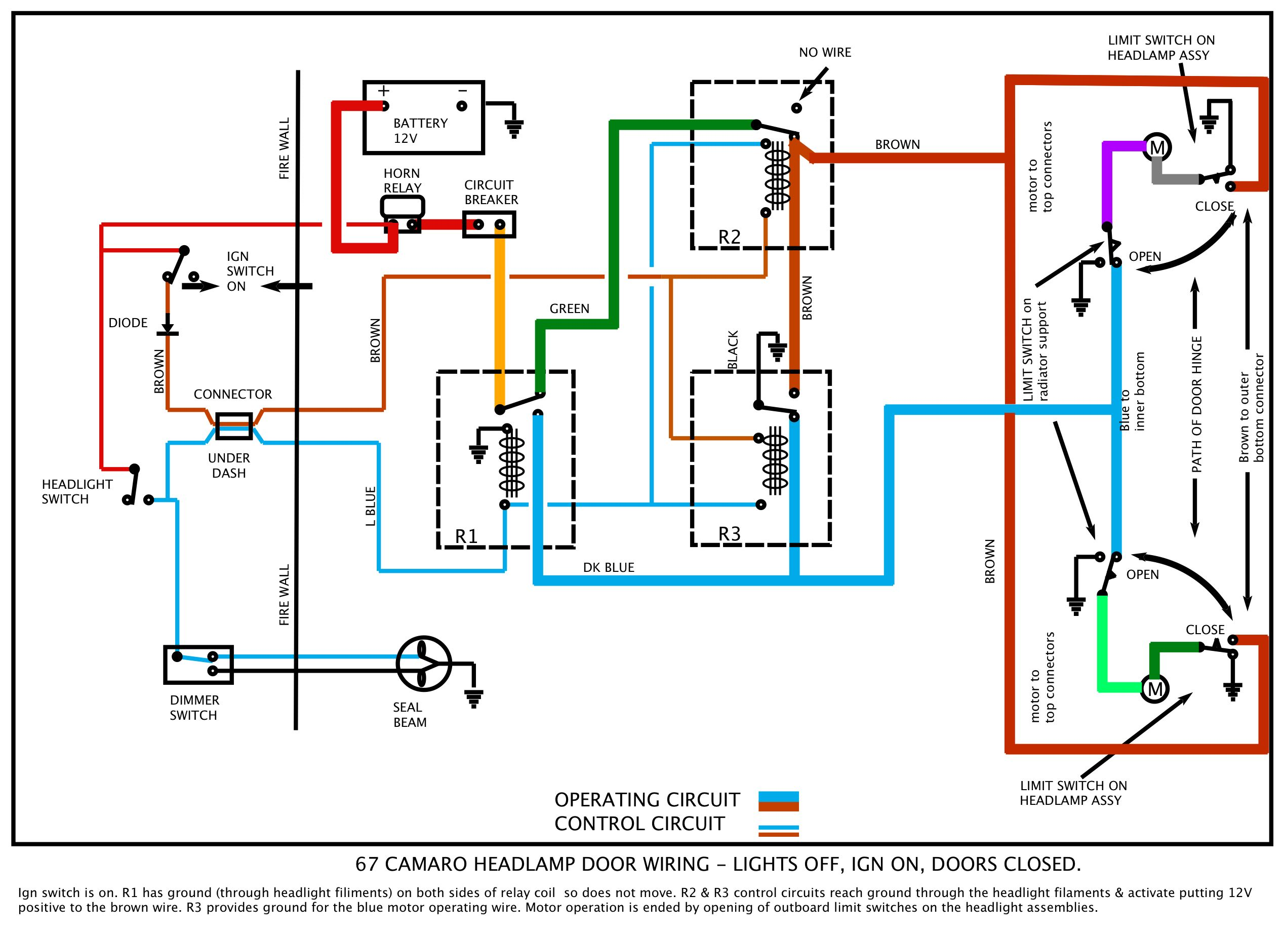 67_RS_Ign_on_hl_off headlight tail light wiring diagram data wiring diagram blog