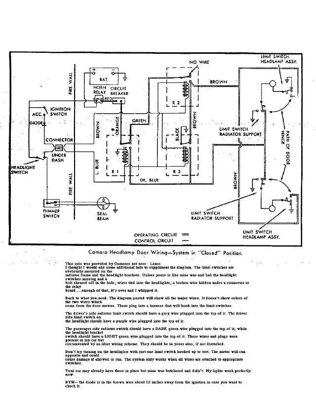 67rswire first gen camaros wiring diagram convertible top 1989 camaro rs at gsmx.co