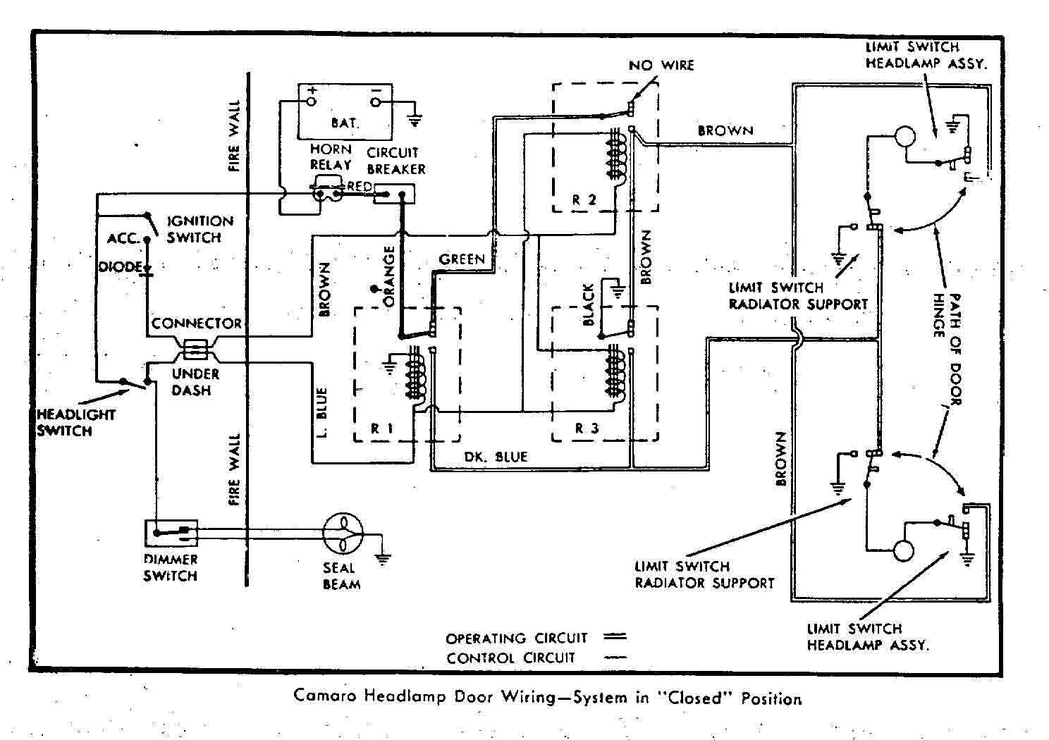 67 camaro horn relay diagram wiring circuit u2022 rh ericruizgarcia co 1968 Camaro Wiring Diagram Online 1969 Camaro Dash Wiring Diagram