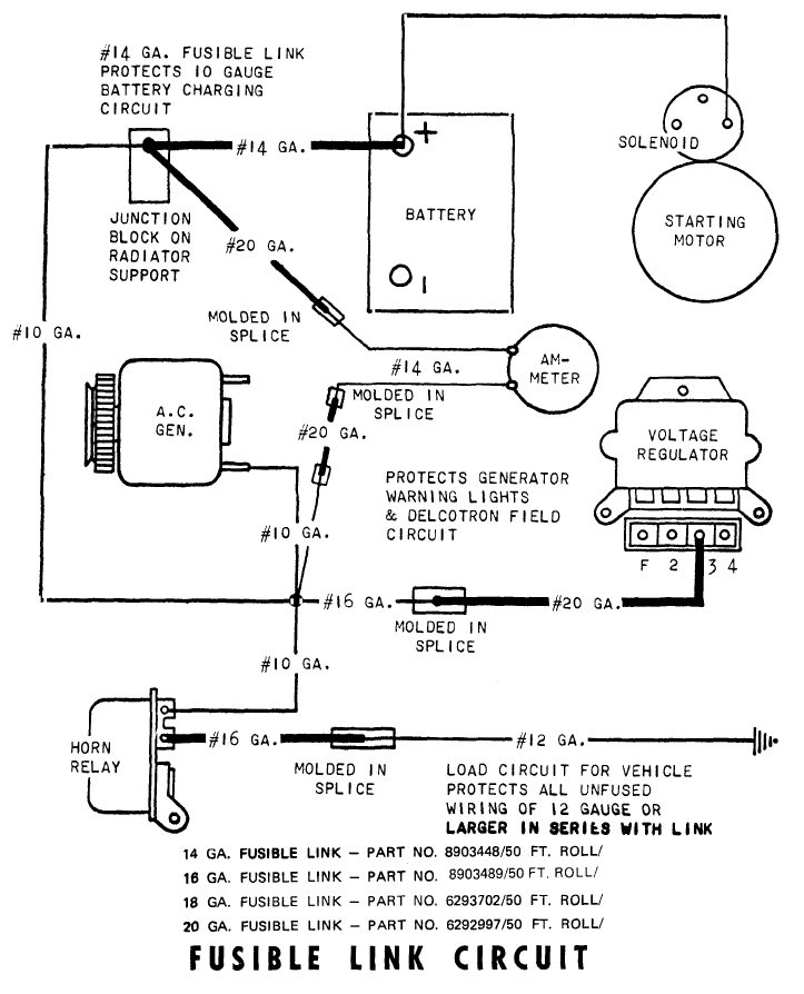 camaro electricalwiring diagram for charging system showing fuseable links
